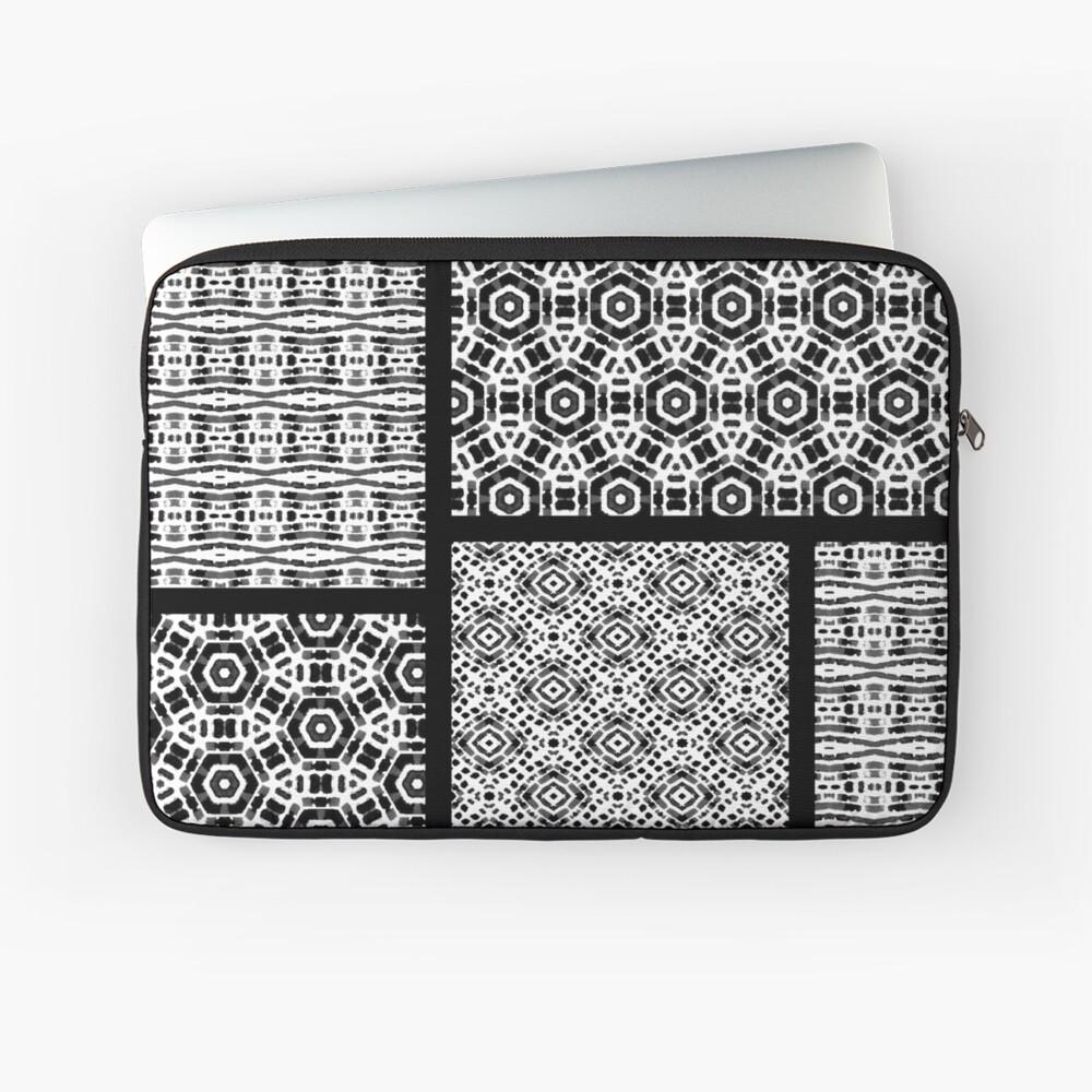Shibori Quilt Ornament Laptop Sleeve