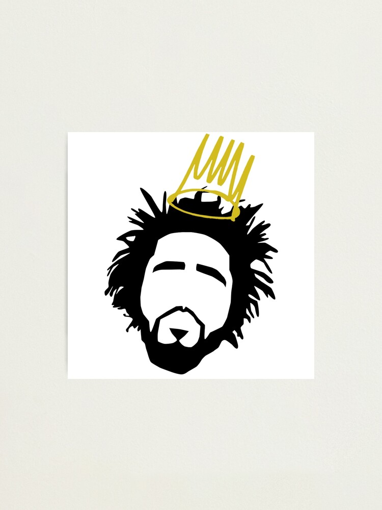 J Cole professionally Framed art print with mount Street Art