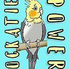 Cockatiel power by Skye Elizabeth  Tranter