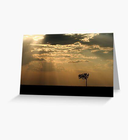 Sunset Over Masai Mara, Kenya II Greeting Card