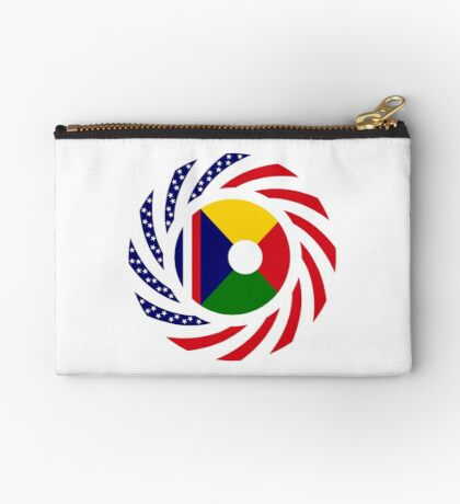 Reunion American Multinational Patriot Flag Series Zipper Pouch