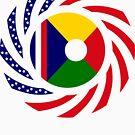 Reunion American Multinational Patriot Flag Series by Carbon-Fibre Media