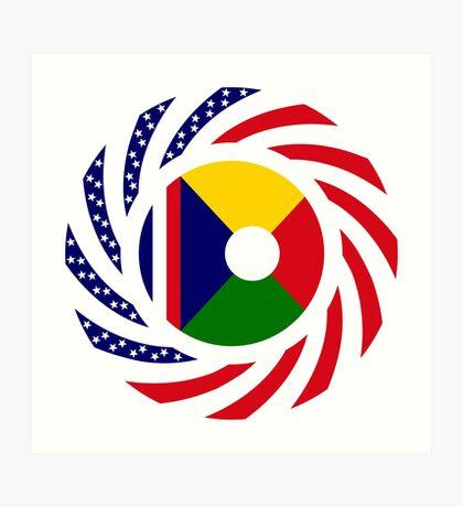 Reunion American Multinational Patriot Flag Series Art Print