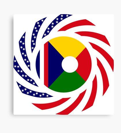 Reunion American Multinational Patriot Flag Series Canvas Print