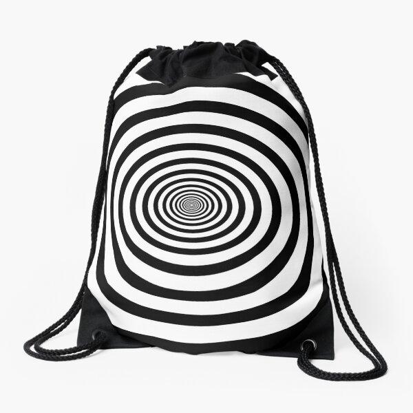 #Circle #2Dshape #target #dart dartboard archery aim hypnosis psychedelic Drawstring Bag