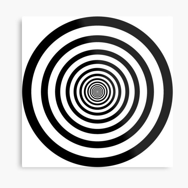 #Circle #2Dshape #target #dart dartboard archery aim hypnosis psychedelic Metal Print