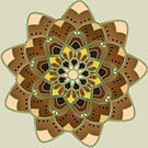 tan and gold mandala by resonanteye