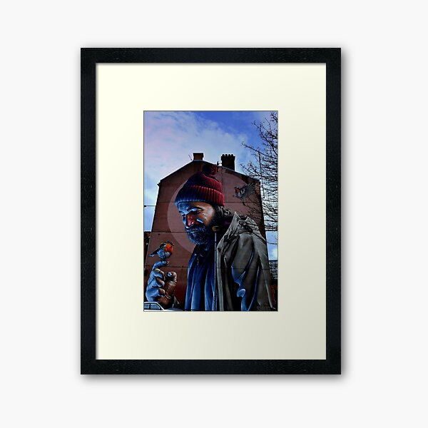 glasgow st mungo and the bird that never flew... Framed Art Print