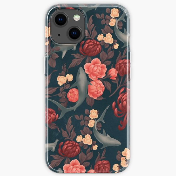 Botanical Shark (Red and Blue) iPhone Soft Case