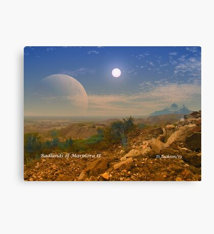 Badlands Marmora II Canvas Print