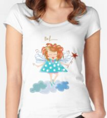 Her Name Is Bel~ (C)2010 Women's Fitted Scoop T-Shirt