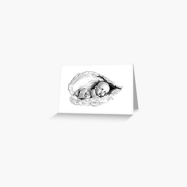 Sleeping baby Greeting Card