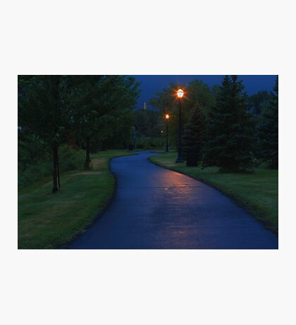 Walking down a spooky trail alone Photographic Print