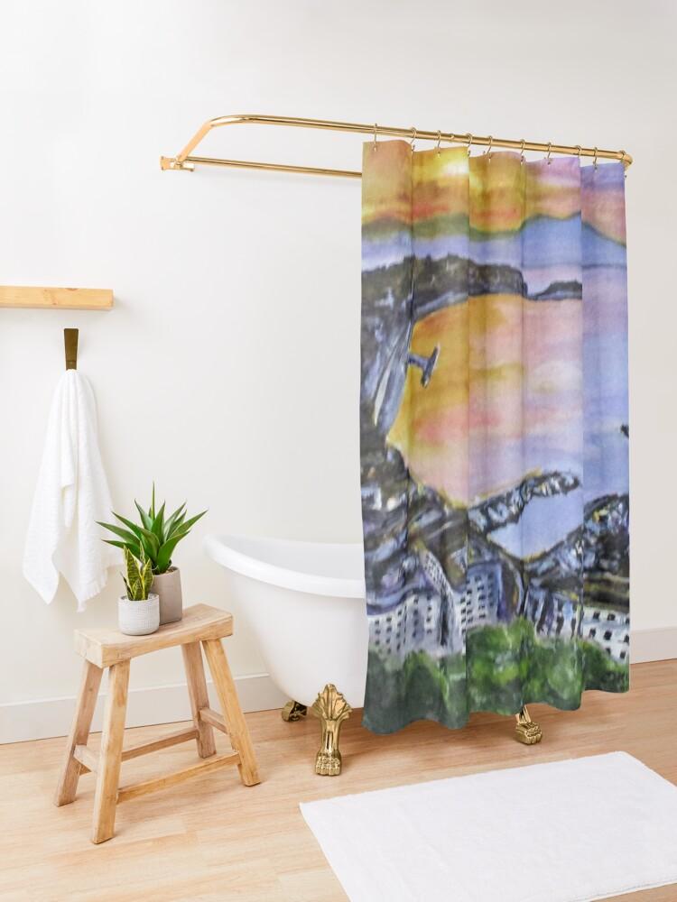 Alternate view of Napoli Sundown Shower Curtain
