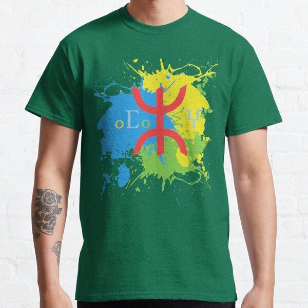 T-shirt d'Amazigh Flag Splash Art Design T-shirt classique