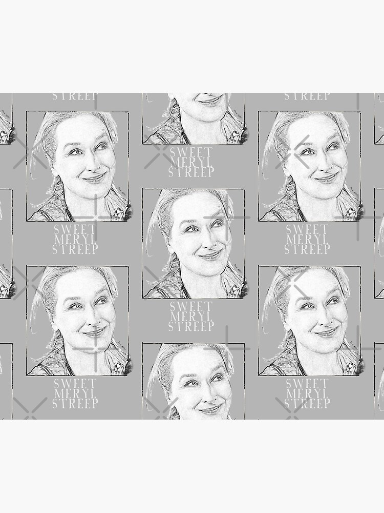 Sweet Meryl Streep framed, popart black and white - digital handmade by Iona Art Digital by IonaArtDigital