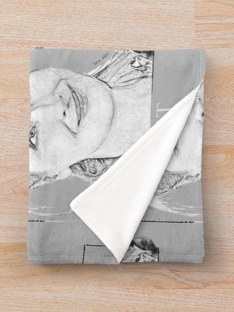 Alternate view of Sweet Meryl Streep framed, popart black and white - digital handmade by Iona Art Digital Throw Blanket
