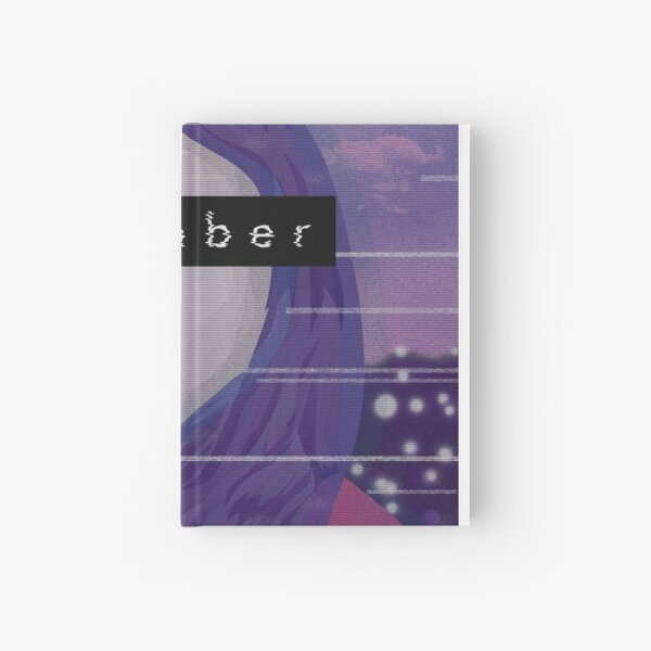 remember - vaporwave-inspired art Hardcover Journal