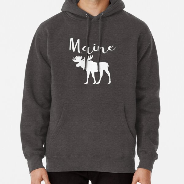 Maine Moose State  Pullover Hoodie