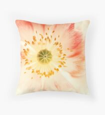 Poppy Close-Up Throw Pillow