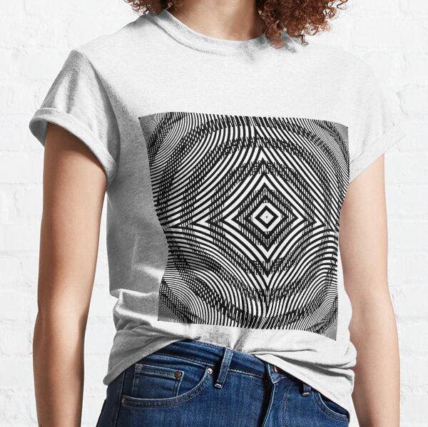 #Illustration, #pattern, #decoration, #design, abstract, black and white, monochrome, circle, geometric shape Classic T-Shirt