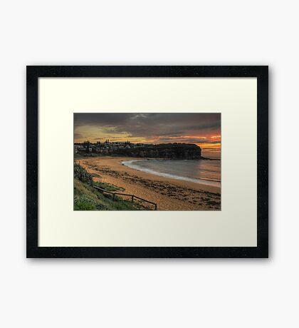 Morning - Mona Vale Beach, Sydney - The HDR Experience Framed Print