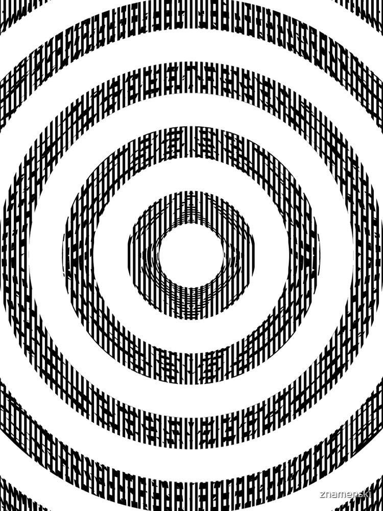 #Illustration, #pattern, #decoration, #design, abstract, black and white, monochrome, circle, geometric shape by znamenski