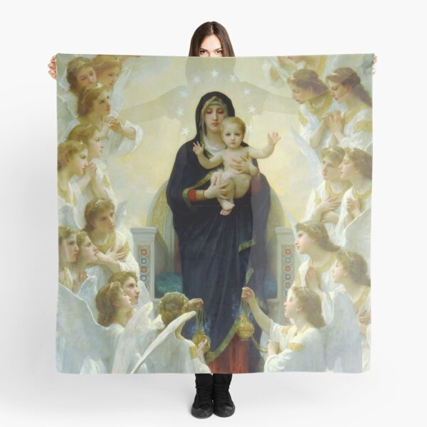 "William-Adolphe Bouguereau ""The Virgin with Angels"" Scarf"