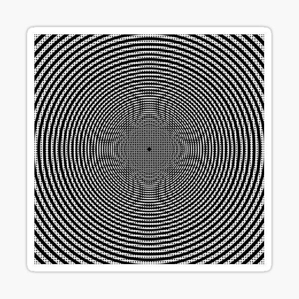 #Illustration, #pattern, #decoration, #design, abstract, black and white, monochrome, circle, geometric shape Sticker