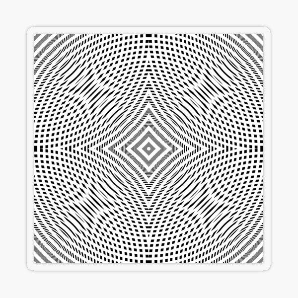 #Illustration, #pattern, #decoration, #design, abstract, black and white, monochrome, circle, geometric shape Transparent Sticker