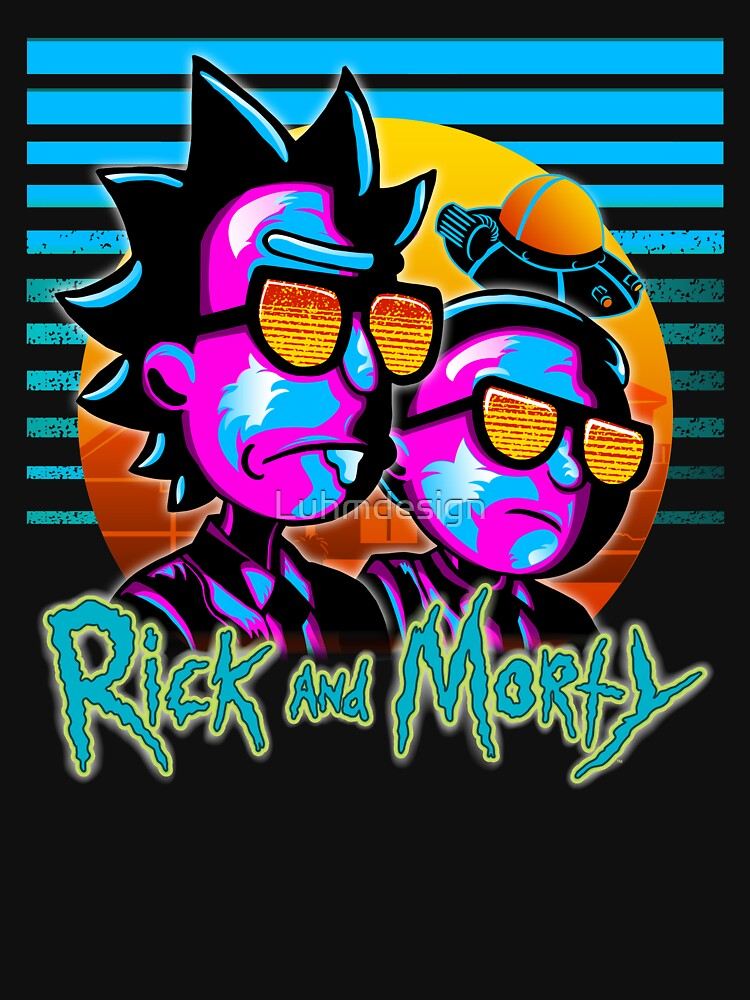 Rick and Morty Outrun Style  by Luhmdesign