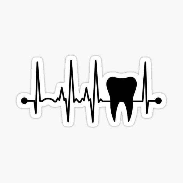Dentist Tooth Heartbeat Sticker