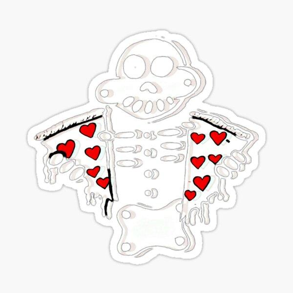 Zanoskull Pizza My Heart Sticker