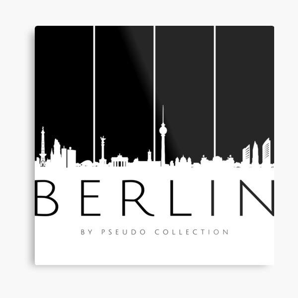 Skyline Berlin Black Metal Print