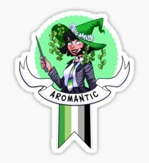 I was sorted into the Aromantic House Sticker
