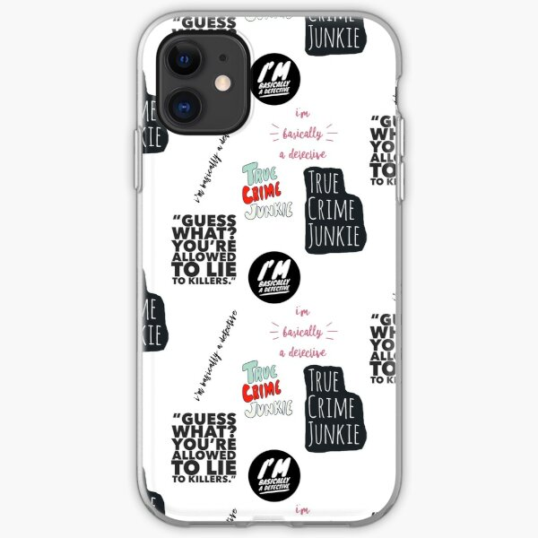 My True Crime Aesthetic Stickers iPhone Soft Case