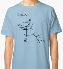 Darwin I Think Tree (Black) Classic T-Shirt