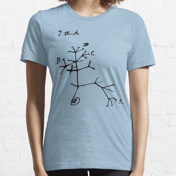 Darwin I Think Tree (Black) Essential T-Shirt