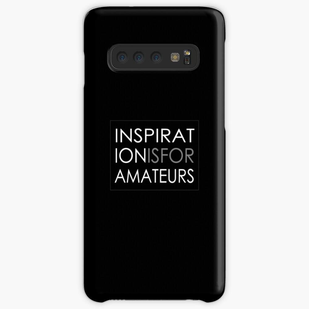 Inspiration Is For Amateurs Motivation Slogan (Dark Theme) Case & Skin for Samsung Galaxy
