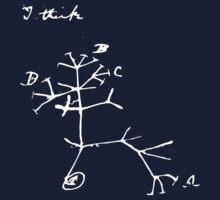 Darwin I Think Tree (White)