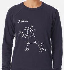 Darwin I Think Tree (White) Lightweight Sweatshirt