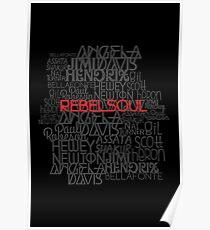 Rebel Soul Angela Davis Gil Scott Heron Getup Poster
