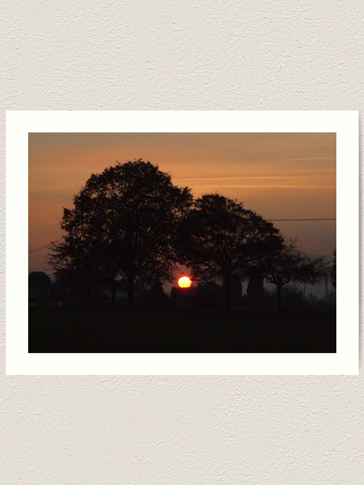 Alternate view of Sunset Calendar 02 Art Print