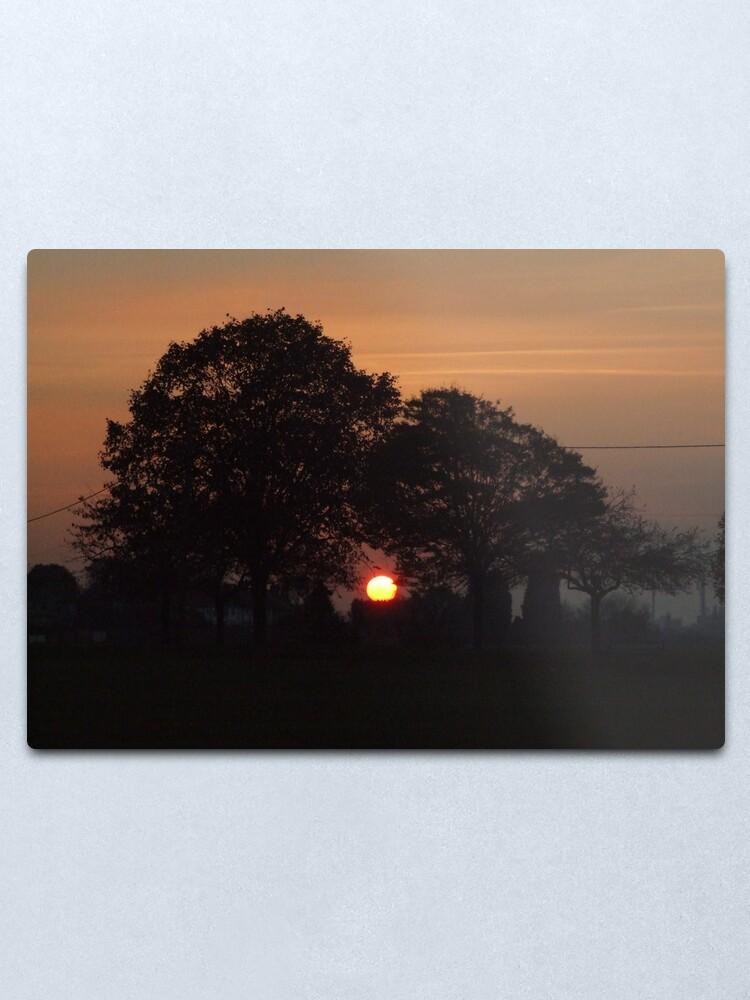 Alternate view of Sunset Calendar 02 Metal Print