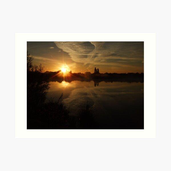 Sunset Calendar 04 Art Print