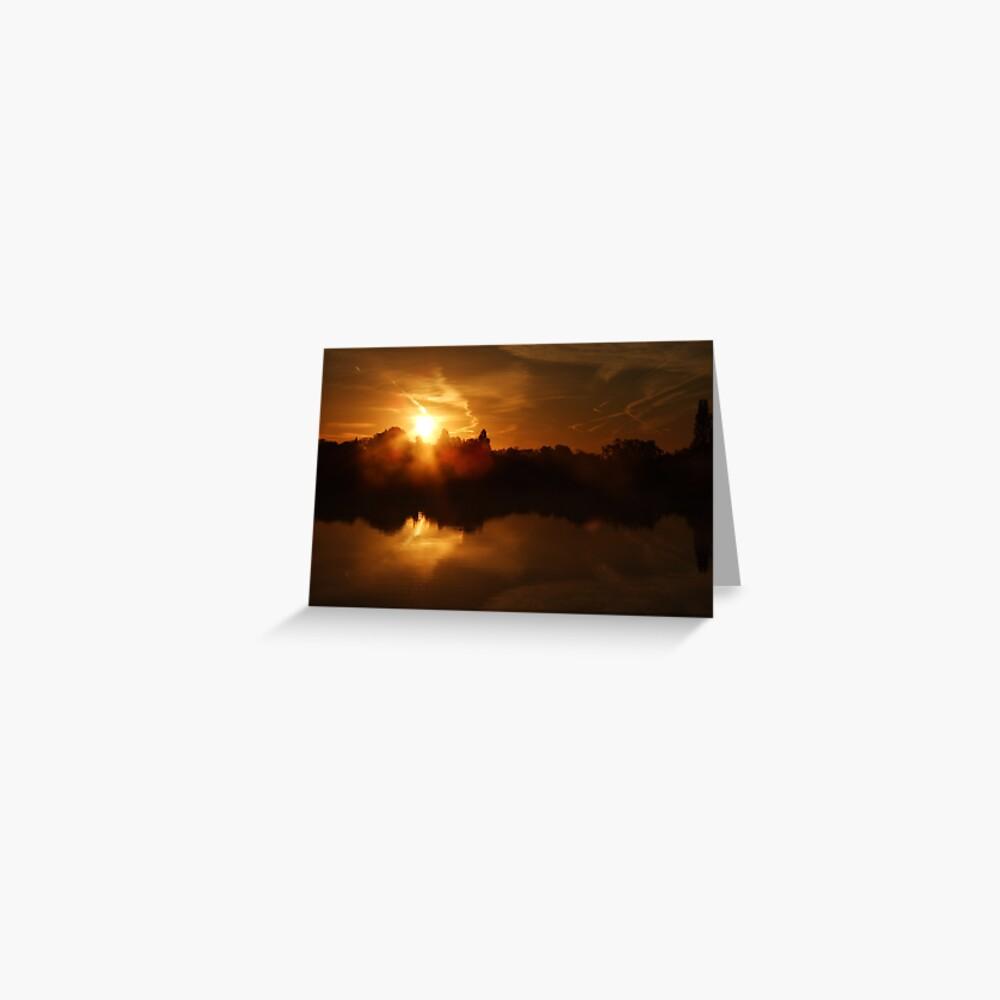 Sunset Calendar 05 Greeting Card