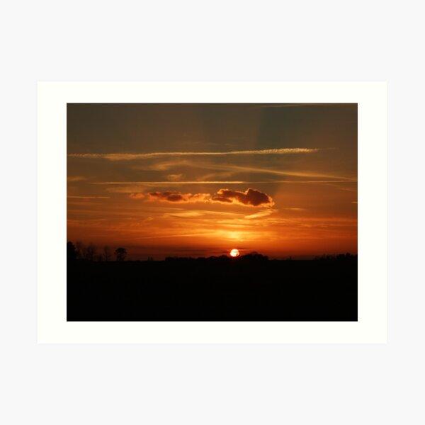 Sunset Calendar 06 Art Print