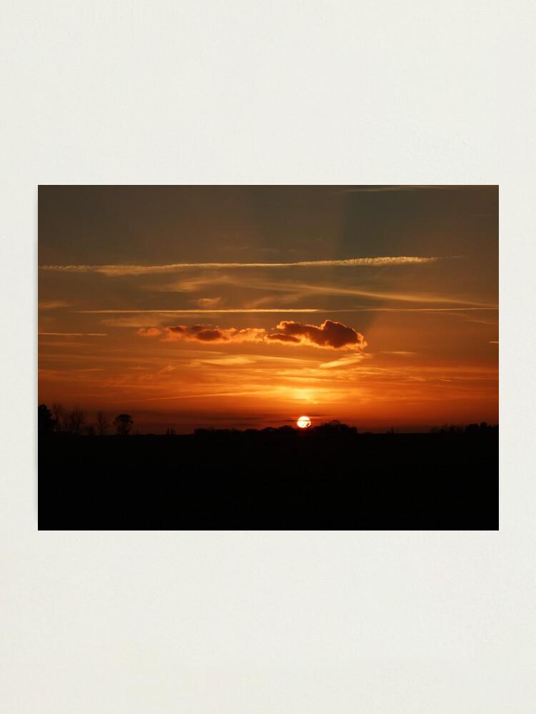 Alternate view of Sunset Calendar 06 Photographic Print
