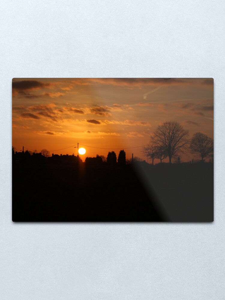 Alternate view of Sunset Calendar 09 Metal Print