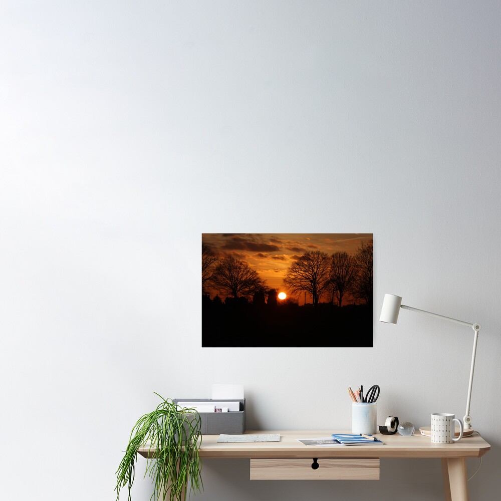 Sunset Calendar 10 Poster